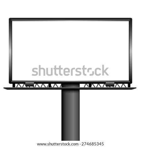 Outdoor blank billboard - stock vector