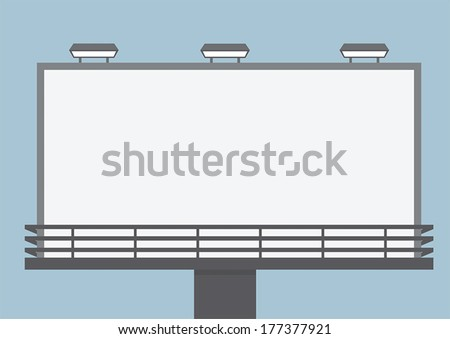 Outdoor blank billboard, VECTOR, EPS10 - stock vector