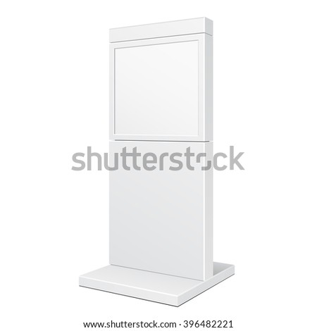 Outdoor City Light Box Advertising Stand Banner Shield Display, Advertising. Illustration Isolated On White Background. Vector EPS10 - stock vector