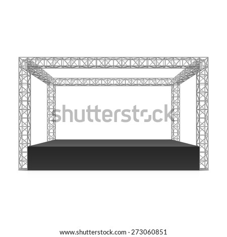 Outdoor festival stage, truss system. Vector. - stock vector