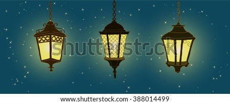 outdoor lighting hanging lanterns set