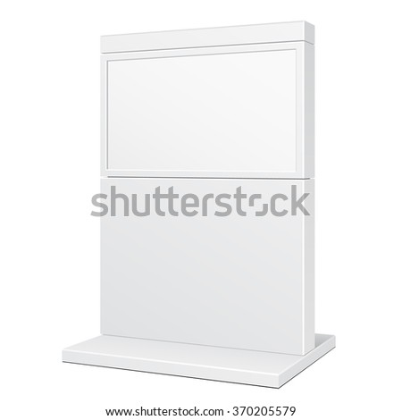 Outdoor POS POI City Light Box Advertising Stand Banner Shield Display, Advertising. Illustration Isolated On White Background. Vector EPS10