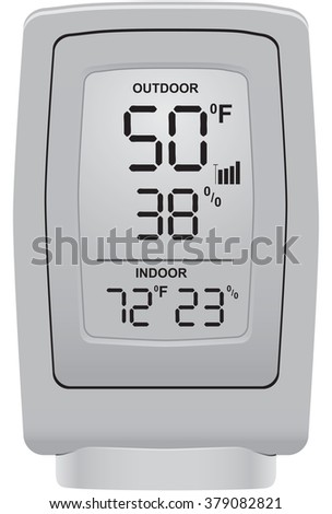 Outdoor thermometer and humidity sensor for use in a domestic environment.