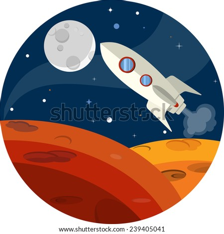 Outer Space  - stock vector