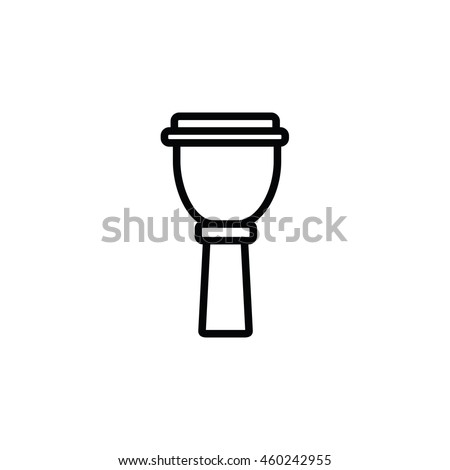 Outline Djembe Icon