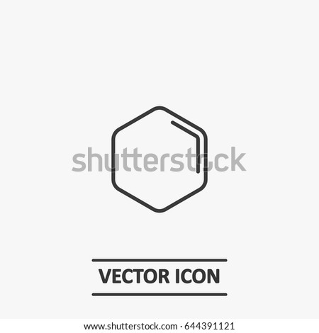Outline Hexagon Icon Illustration Vector Symbol Stock Vector