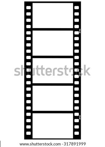 outline illustration of film strip - stock vector