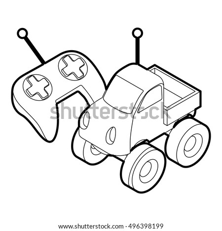 stock vector outline illustration of remote control car toy vector icon for web 496398199 car stereo amp wiring diagram car find image about wiring,Wiring Diagram For Amp