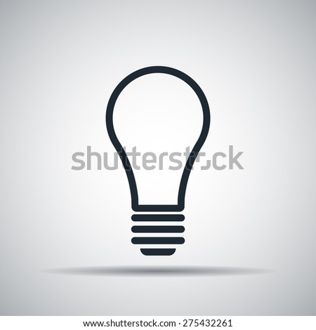 outline light bulb icon - stock vector