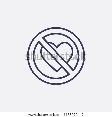 Outline Love Forbidden Icon Illustrationvector Sign Stock Vector