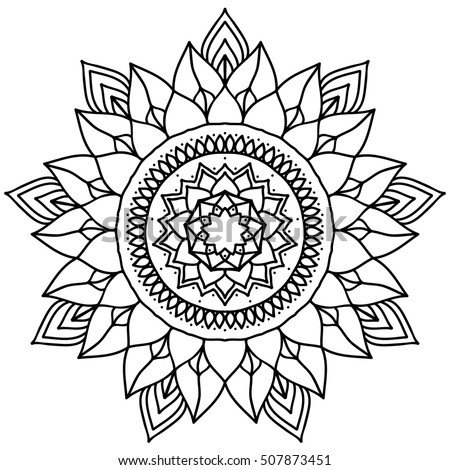 Mandala Coloring Stock Images Royalty Free Images