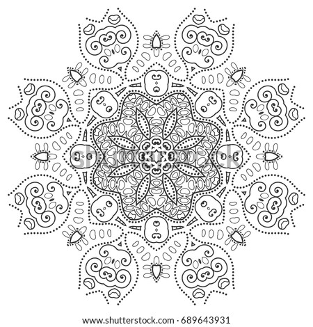 Flowers Coloring Page Stock Images Royalty Free Images