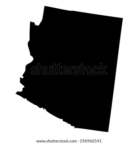Outline of the State of Arizona - stock vector