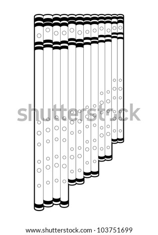 Outline panpipe
