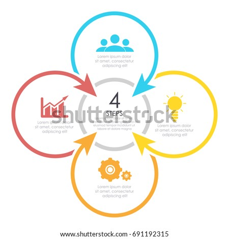 Vector Round Infographics Template Circle Diagram Stock Vector ...