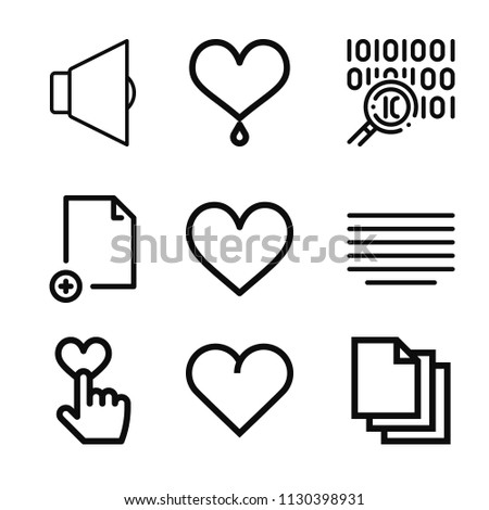 Outline Set 9 Interface Icons Such Stock Vector Royalty Free
