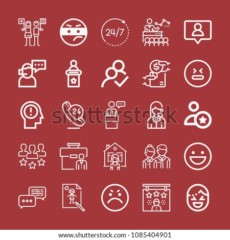 Outline Set 25 People Icons Such Stock Vector 1085404901 Shutterstock