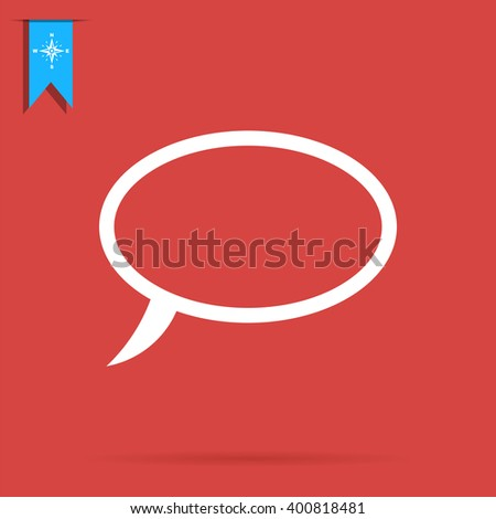 outline speech bubble