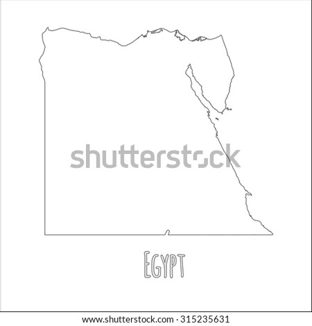High Detailed Vector Contour Map Egypt Stock Vector - Map of egypt outline