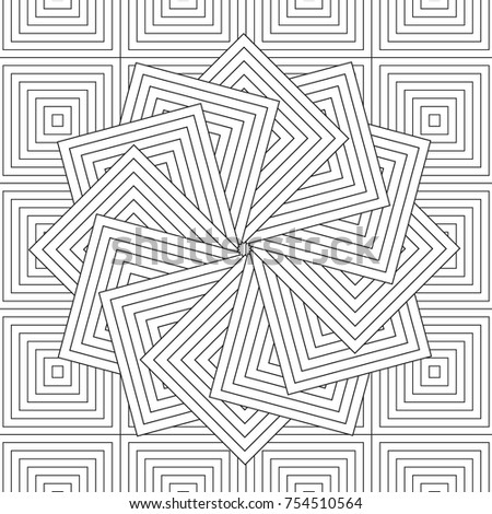 Outlined Doodle Antistress Coloring Page Abstract Stock Vector ...