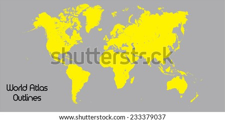 Outlines world atlas stock vector hd royalty free 233379037 outlines of world atlas gumiabroncs Images