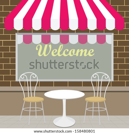 Outside View of The Coffee Shop  - stock vector