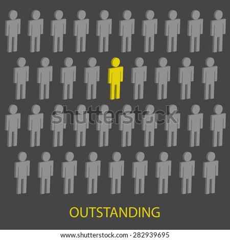 Outstanding person,Vector - stock vector