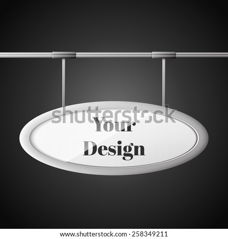 Oval billboard ready for new advertisement, excellent vector illustration, EPS 10 - stock vector
