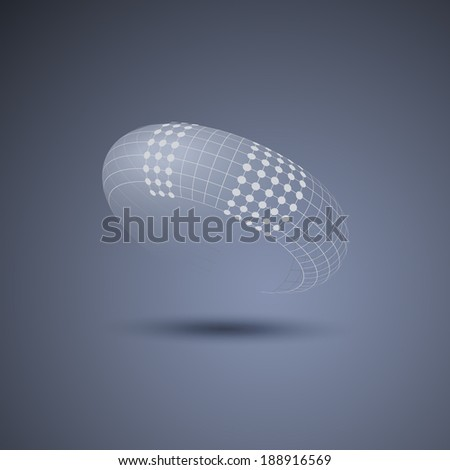 Oval Design with Dots - stock vector