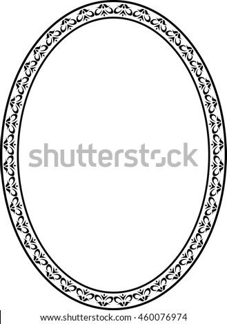 oval frame design. Oval Frame Border Beautiful Vector Vintage Isolated Oval Design