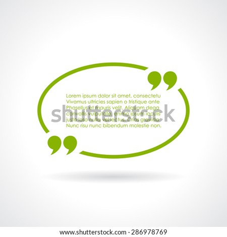 Oval quote textbox - stock vector