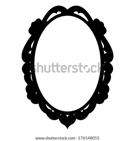 oval vector vintage frame - stock vector