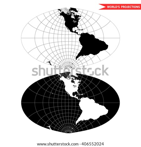 Oval world map projection black white vector de stock406552024 oval world map projection black and white world map vector illustration gumiabroncs Choice Image