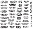 Over 25 tribal tattoo. Set 3 - stock photo