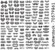 Over 100 tribal tattoos. Set 1,2,3,4 - stock vector