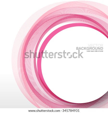 Overlapping Circles Clean Design Background - stock vector