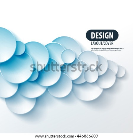 Overlapping Circles Layout/Design Cover Background