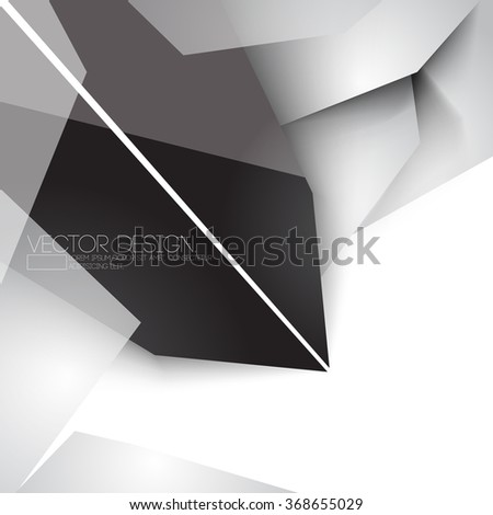 overlapping geometric polygons chrome metallic concept corporate business design - stock vector
