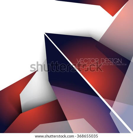 overlapping geometric polygons corporate business design - stock vector