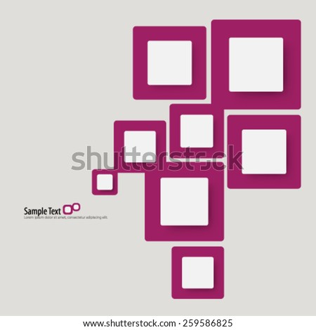 Overlapping Squares Beautiful Design Background