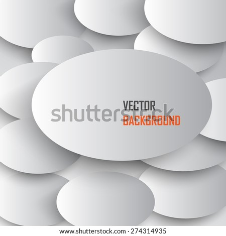 Overlapping White ovals. Abstract background. - stock vector
