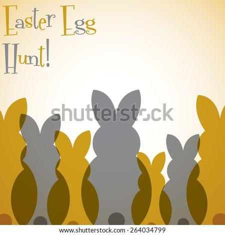 Overlay Easter bunny card in vector format. - stock vector