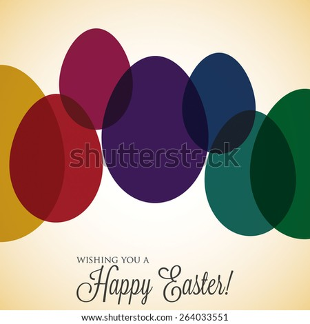 Overlay Easter egg card in vector format. - stock vector