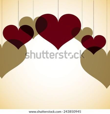Overlay heart card in vector format. - stock vector
