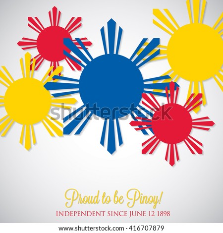 Overlay Philippine Independence Day card in vector format. - stock vector