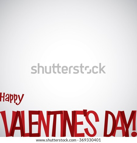 Overlay word Valentine's Day card in vector format. - stock vector