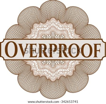 Overproof abstract rosette - stock vector