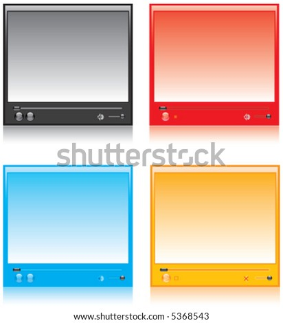 oversee, movie, play, video - stock vector
