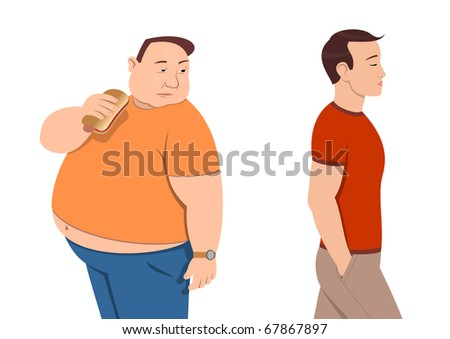 Overweight - stock vector