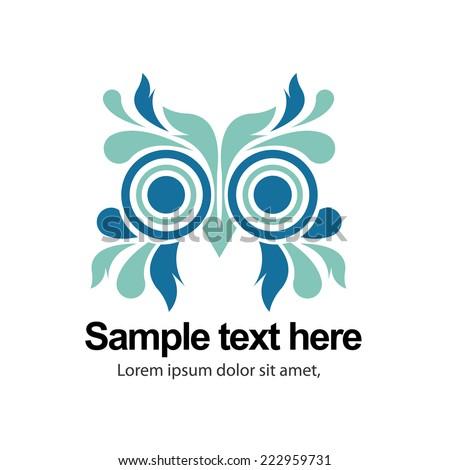 Owl face icon design. vector - stock vector